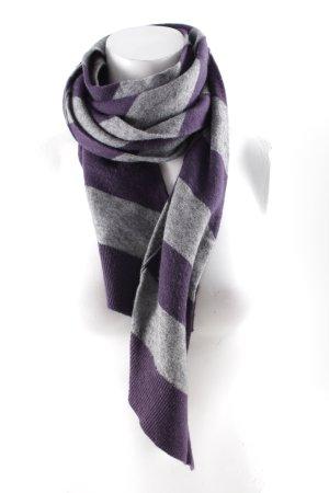 Esprit Cravatta casual grigio-viola scuro motivo a righe stile casual