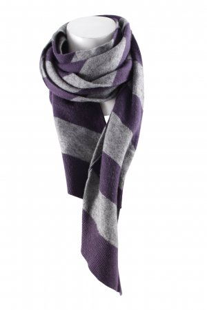 Esprit Casual Cravat grey-dark violet striped pattern casual look