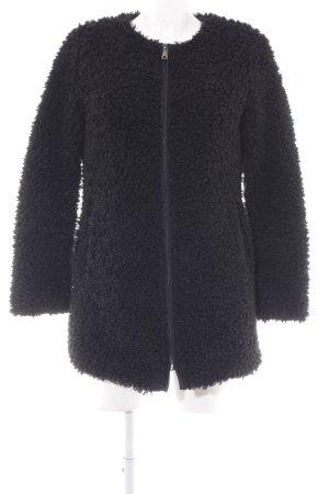Esprit Cappotto in eco pelliccia nero soffice