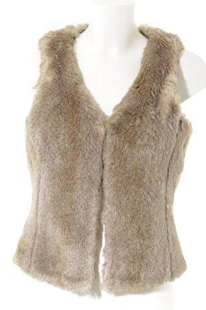 Esprit Vest van imitatiebont lichtbruin-camel casual uitstraling
