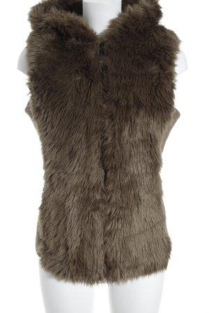Esprit Vest van imitatiebont lichtbruin casual uitstraling