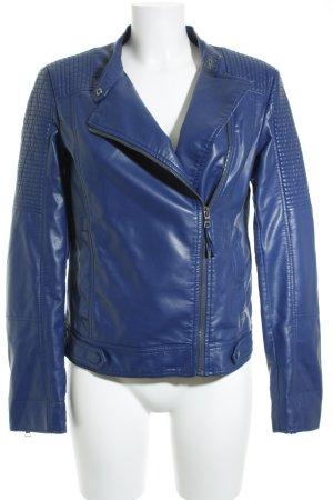 Esprit Kunstlederjacke blau Casual-Look