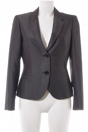 Esprit Kurz-Blazer anthrazit Webmuster Business-Look