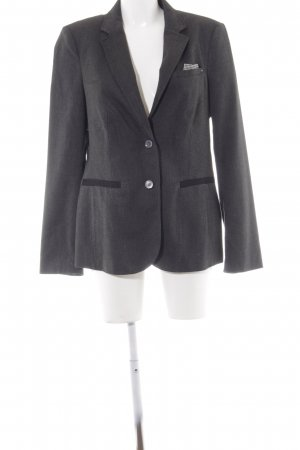 Esprit Kurz-Blazer anthrazit Zackenmuster Business-Look