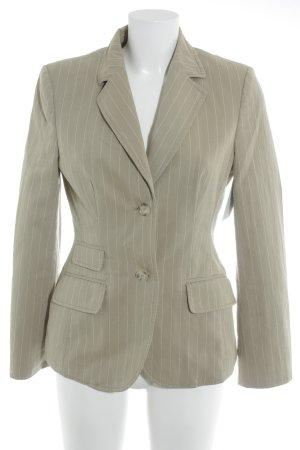 Esprit Kurz-Blazer beige-weiß Nadelstreifen Business-Look
