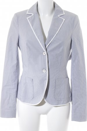 Esprit Kurz-Blazer blassblau-weiß Streifenmuster klassischer Stil