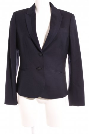 Esprit Kurz-Blazer dunkelblau Nadelstreifen Business-Look