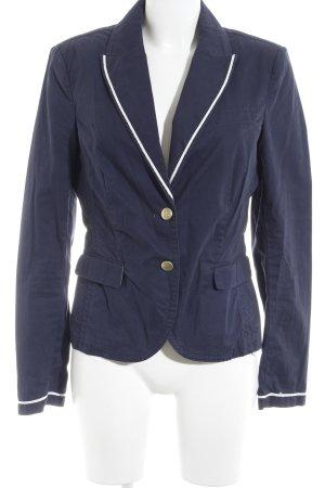 Esprit Kurz-Blazer dunkelblau-weiß Casual-Look