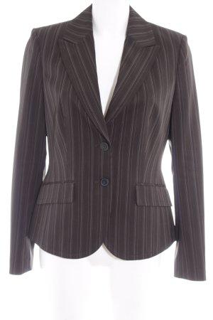 Esprit Kurz-Blazer dunkelbraun-weiß Streifenmuster Business-Look