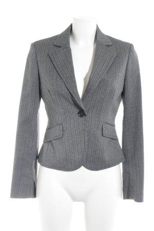 Esprit Kurz-Blazer grau-dunkelgrau Nadelstreifen Business-Look