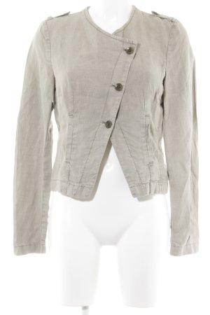 Esprit Kurz-Blazer graugrün Webmuster Casual-Look