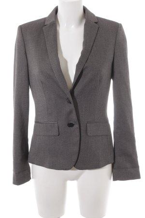 Esprit Blazer court noir-gris clair motif à chevrons style d'affaires