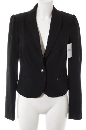 Esprit Kurz-Blazer schwarz-silberfarben Elegant