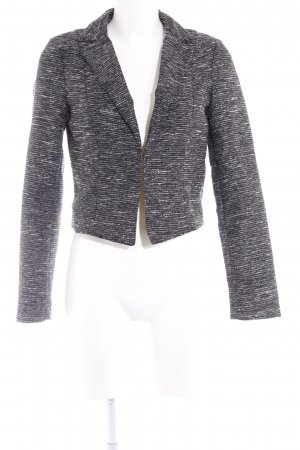 Esprit Kurz-Blazer schwarz-weiß meliert Business-Look