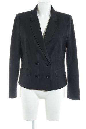 Esprit Kurz-Blazer schwarz-weiß Nadelstreifen Business-Look