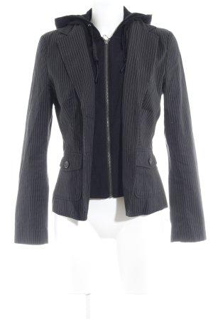 Esprit Kurz-Blazer schwarz-weiß Nadelstreifen Casual-Look