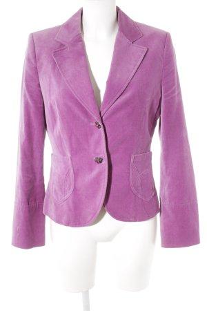 Esprit Kurz-Blazer violett Samt-Optik