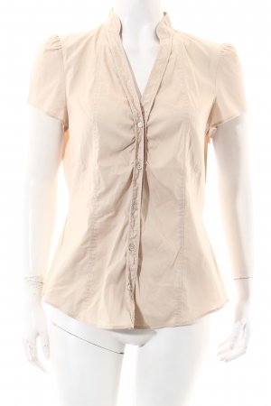 Esprit Kurzarm-Bluse beige Casual-Look