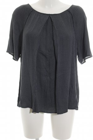 Esprit Kurzarm-Bluse dunkelblau-weiß Punktemuster Business-Look