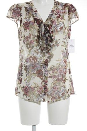Esprit Kurzarm-Bluse florales Muster Casual-Look