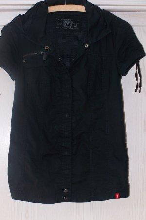 Edc Esprit Camicia con cappuccio nero Cotone