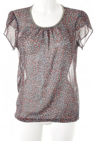 Esprit Kurzarm-Bluse grafisches Muster Casual-Look