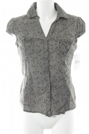 Esprit Short Sleeved Blouse green grey-grey floral pattern casual look