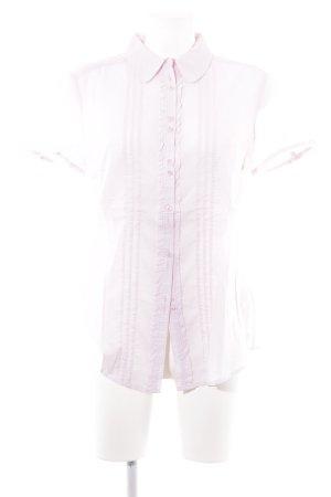 Esprit Blouse à manches courtes rose clair style romantique