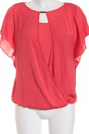 Esprit Kurzarm-Bluse rot Casual-Look