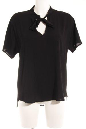 Esprit Blouse met korte mouwen zwart casual uitstraling