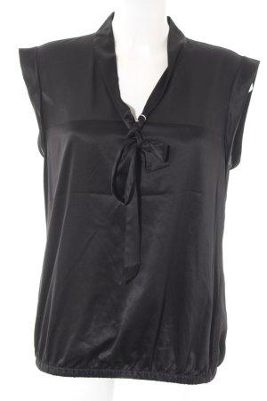 Esprit Kurzarm-Bluse schwarz Elegant