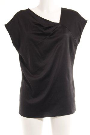 Esprit Kurzarm-Bluse schwarz Punktemuster Elegant