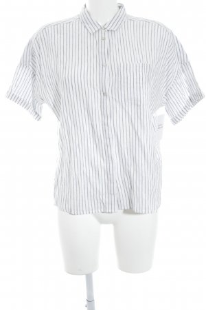 Esprit Short Sleeve Shirt white-azure striped pattern casual look