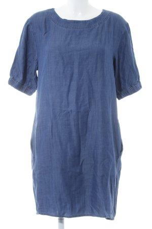 Esprit Kurzarmkleid blau Jeans-Optik