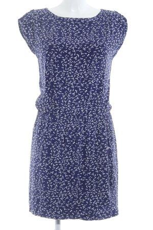 Esprit Kurzarmkleid blau-weiß Punktemuster Boho-Look