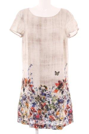 Esprit Kurzarmkleid Blumenmuster Street-Fashion-Look