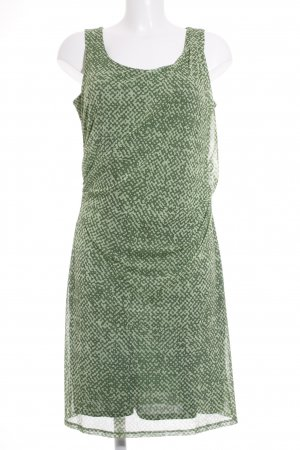 Esprit Kurzarmkleid grün-hellgrün abstraktes Muster Casual-Look