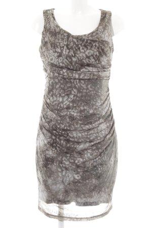 Esprit Kurzarmkleid grüngrau-hellbraun Animalmuster Elegant