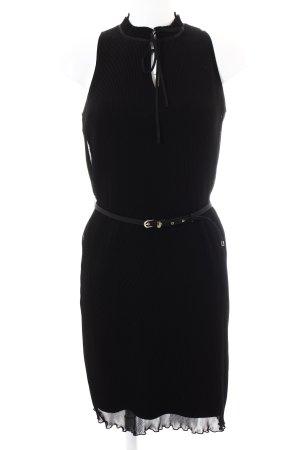 Esprit Kurzarmkleid schwarz-goldfarben Elegant