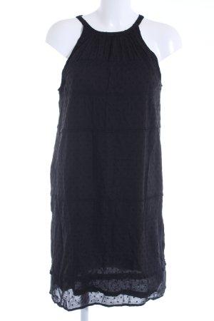 Esprit Kurzarmkleid schwarz Punktemuster Casual-Look