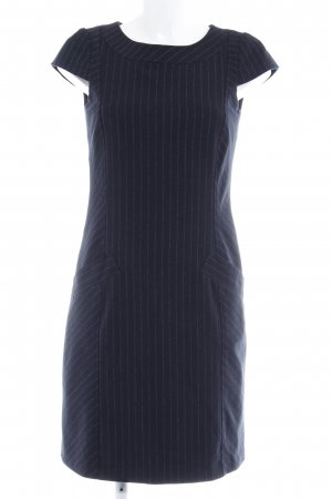 Esprit Kurzarmkleid schwarz Streifenmuster Business-Look