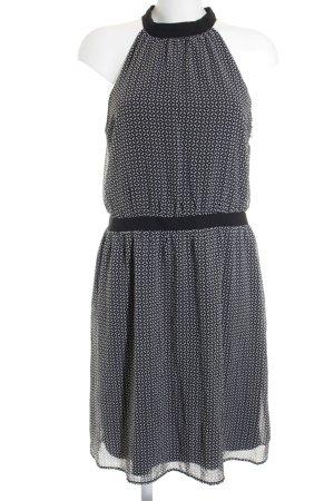 Esprit Kurzarmkleid schwarz-weiß Elegant