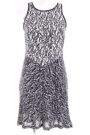 Esprit Kurzarmkleid schwarz-weiß Farbtupfermuster Business-Look