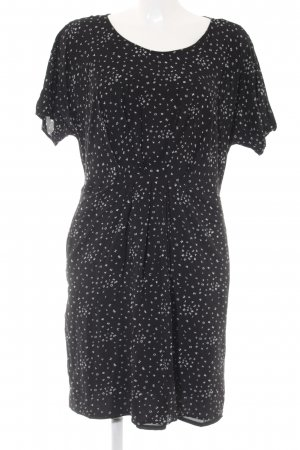 Esprit Kurzarmkleid schwarz-weiß Monogram-Muster Casual-Look