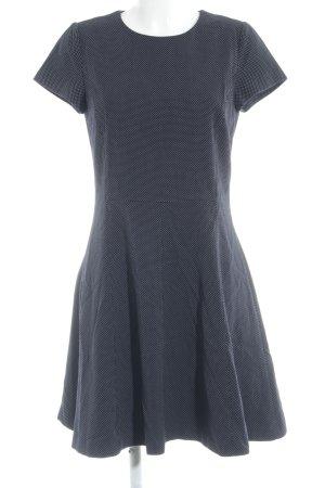 Esprit Kurzarmkleid schwarz-weiß Punktemuster Elegant