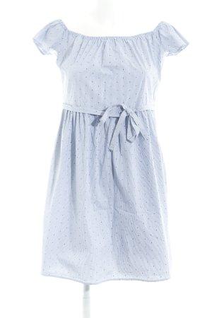 Esprit Kurzarmkleid stahlblau-weiß Punktemuster Segel-Look
