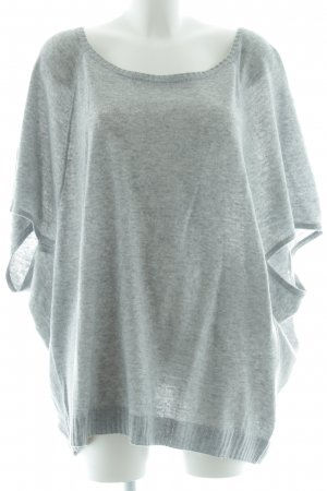 Esprit Short Sleeve Sweater light grey flecked casual look