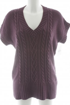 Esprit Short Sleeve Sweater lilac cable stitch casual look