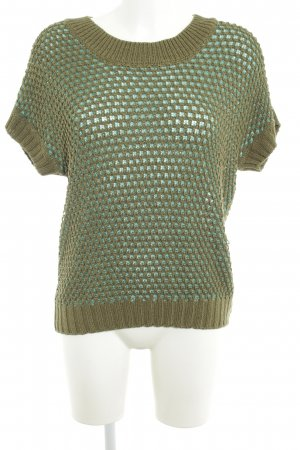 Esprit Short Sleeve Sweater olive green-baby blue casual look