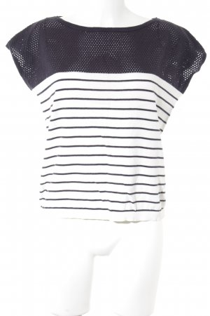Esprit Jersey de manga corta blanco puro-violeta grisáceo estampado a rayas